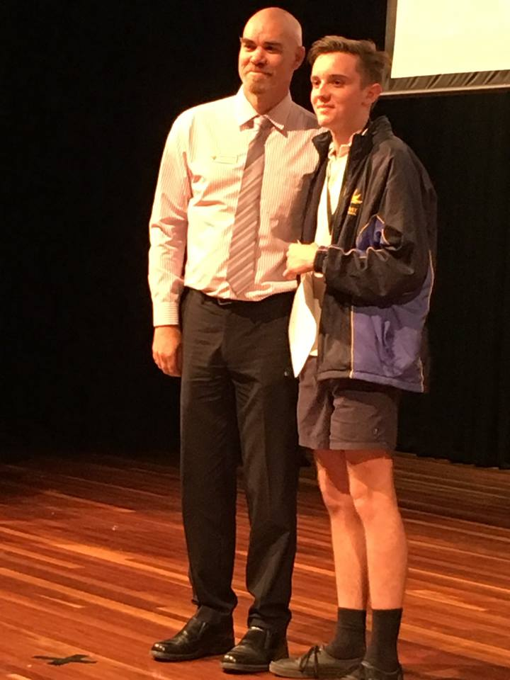 Mullum Cluster Excellence Award Ringwood Training Student